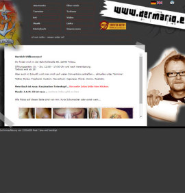 Website DerMario - Tattoostudio